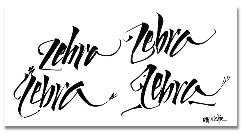 Brush calligraphy grraphics